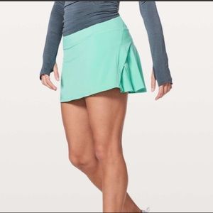 "Lululemon Play Off The Pleats Skirt *13"" Marsh"